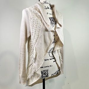 Anthropologie Knitted and Knotted Circle Cardigan